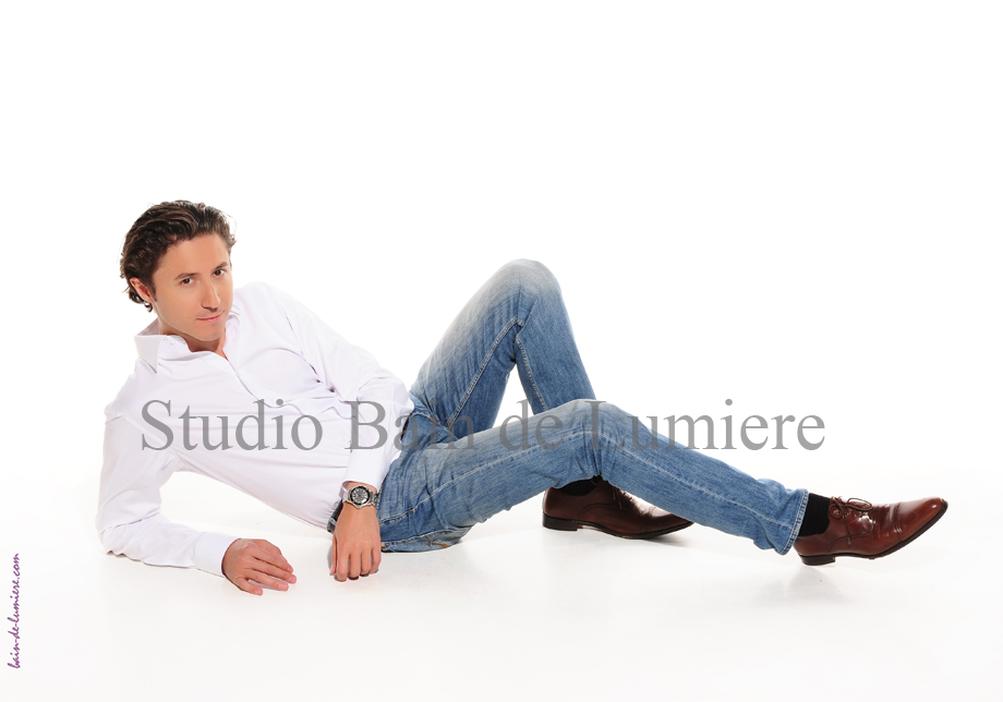 shooting homme en studio