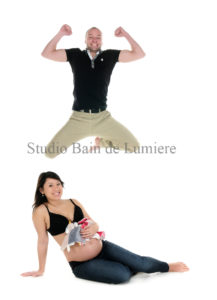 shooting photo couple grossesse